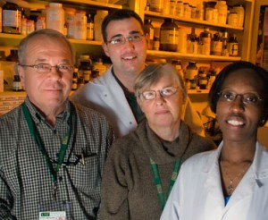 Laboratory members  right to left Shara Pantry Maria Medveczky Jesse Arbuckle and Peter Medveczky